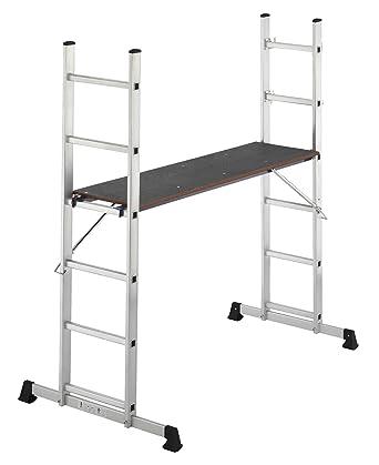 Hailo ProfiStep Multi - Andamio multifunción (andamio + escalera) de aluminio (2 x 6 peldaños): Amazon.es: Industria, empresas y ciencia