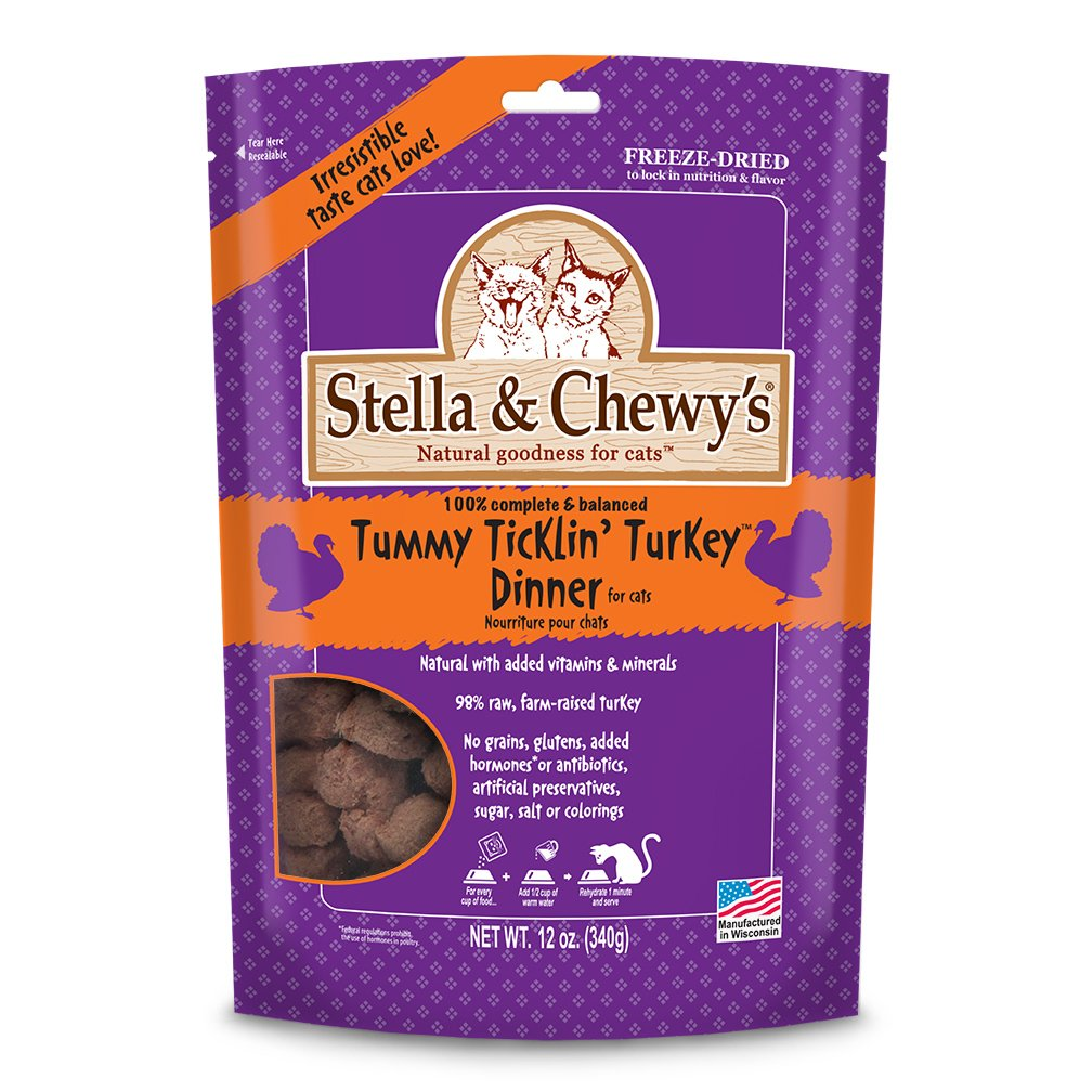 Stella & Chewy's Freeze Dried Food for Cat Standard Packaging Turkey 12 ounce