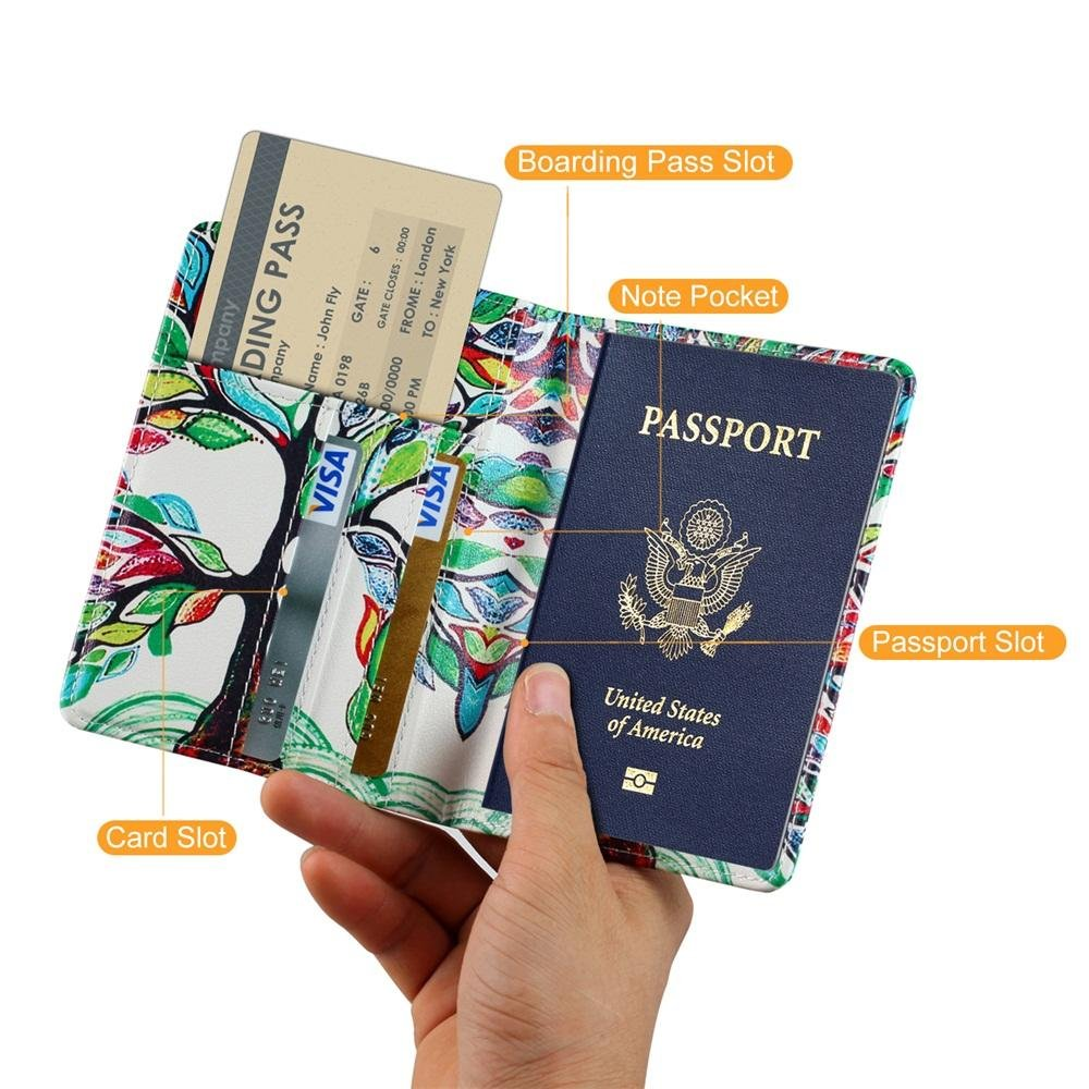 RFID Blocking Passport Wallet Case for Travel Business,Black KATUMO/® Passport Cover