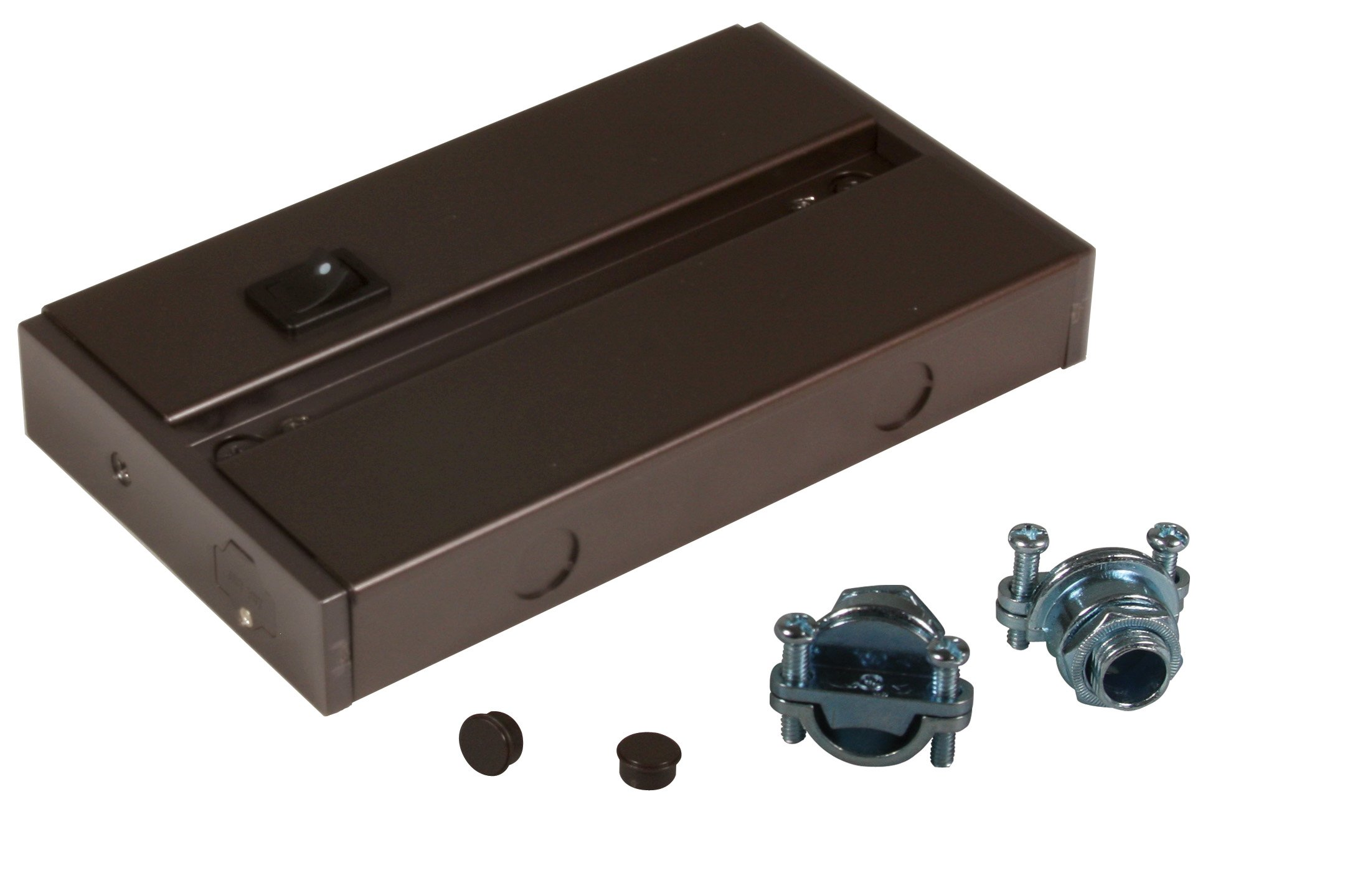American Lighting ALC-BOX-DB Hardwire Box for LED Complete Fixtures, 3/8 Cable Connector Included, Dark Bronze