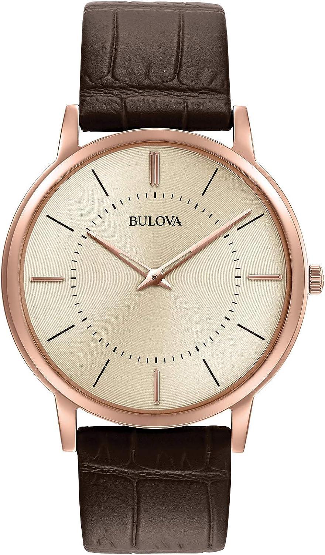Bulova Reloj Correa de piel Para Hombre