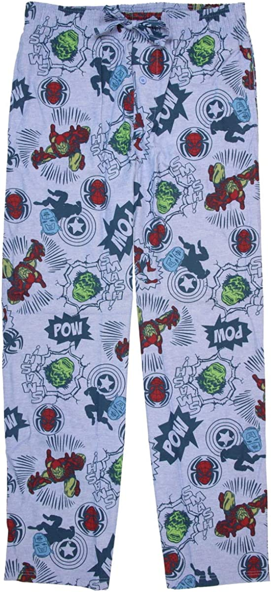 Mad Engine Marvel Superheroes Comic Book Men's Sleep Lounge Pajama Pants