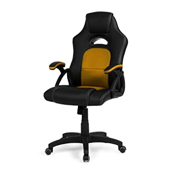 Due-home - Silla de Oficina Gaming, Sillon para Estudio, Escritorio o despacho, Color Naranja, Medidas: 62x106x67 cm de Fondo, Assen: Amazon.es: Hogar