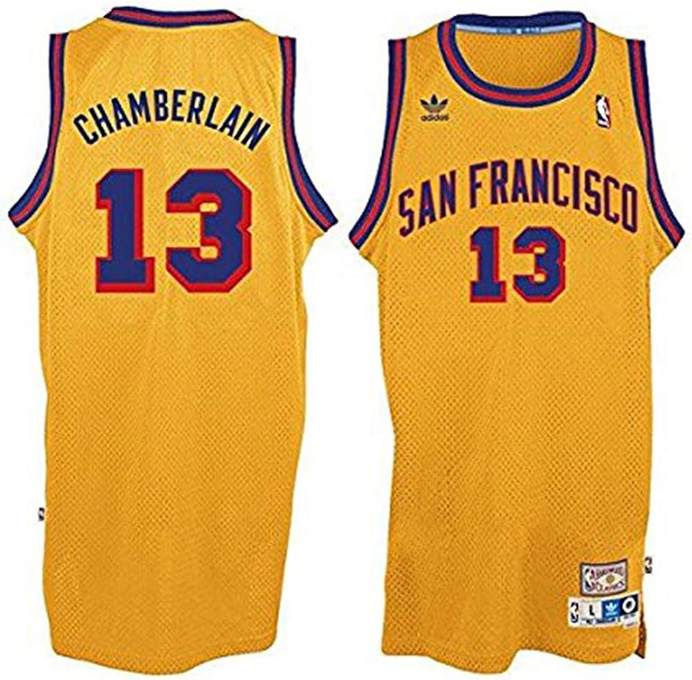 Amazon.com: Wilt Chamberlain #13 San Francisco Warriors Adidas ...