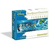 Clementoni 39286 - Peter Pan Night Flights Disney Panorama Puzzle, 1000 Pezzi