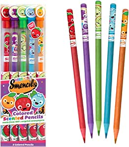 Scentco Colored Smencils 5-Pack of Scented Coloring Pencils