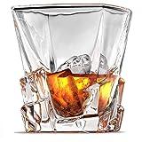 Ashcroft Crystal Iceberg Whiskey Glass Set, High End Whiskey Glasses Set of 2, Best Whiskey Glasses, Scotch or Bourbon…