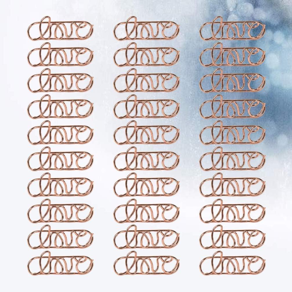 /école marque-pages amusants pour bureau notes d/écoration de mariage dossiers Toyvian Lot de 30 trombones en m/étal pour cartes