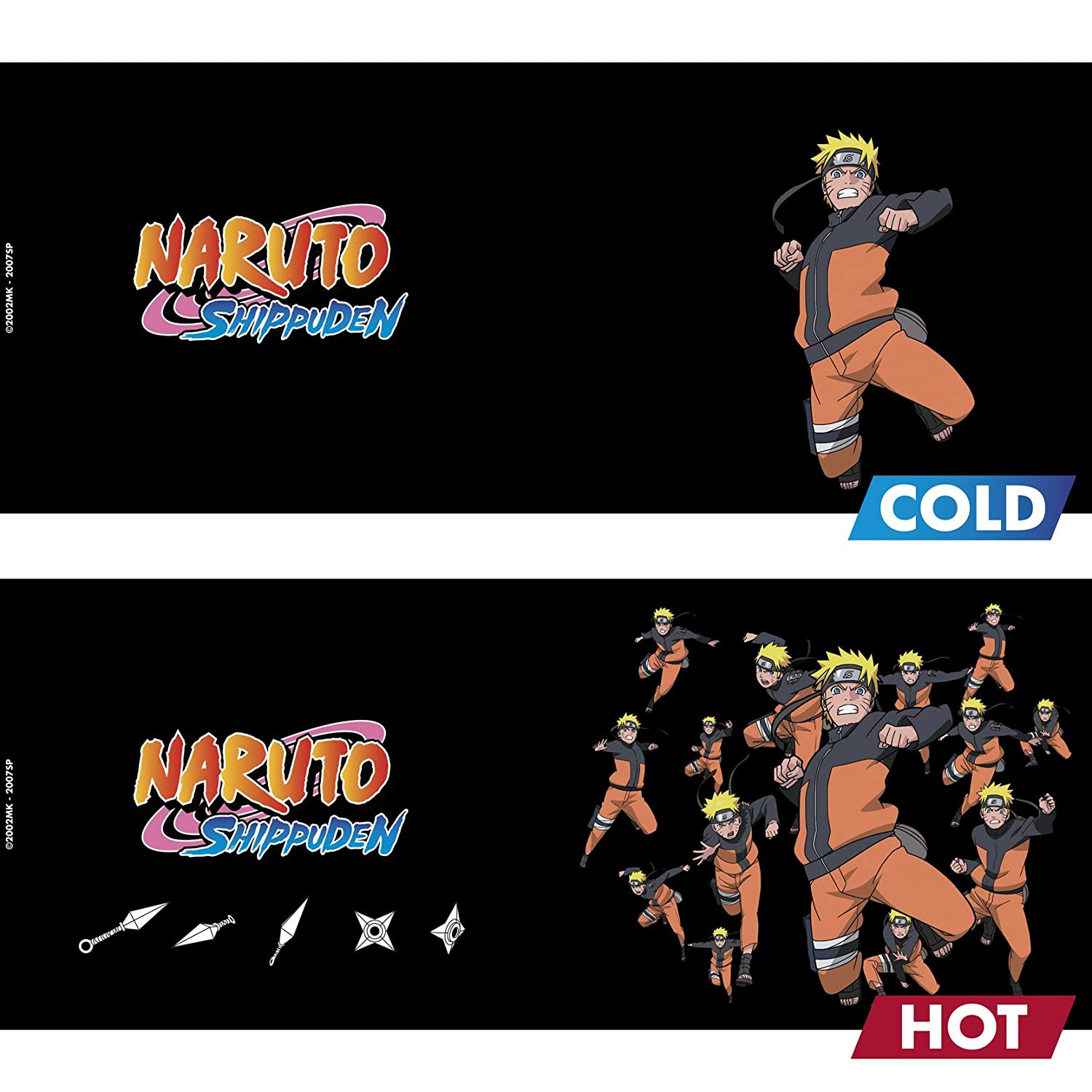 ABYstyle - NARUTO SHIPPUDEN - Taza cambia color con calor - 460 ml -multicloning