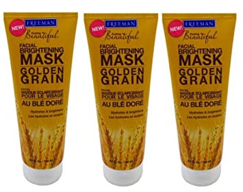 Freeman Feeling Beautiful Brightening Mask, Golden Grain 6 oz (Pack of 3) KH 853008006044 Regenerating Geranium Cedar Toner