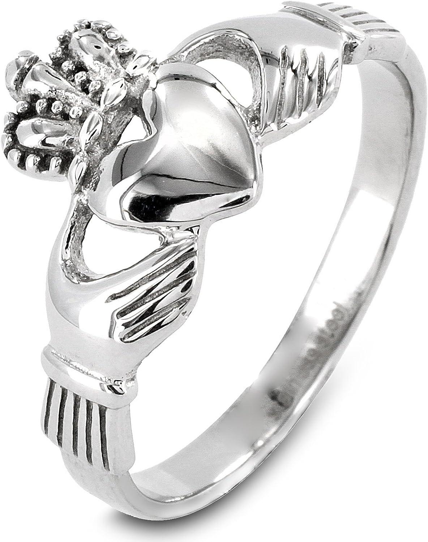 West Coast Jewelry | ELYA Stainless Steel Irish Claddagh Ring - Sizes 5-9