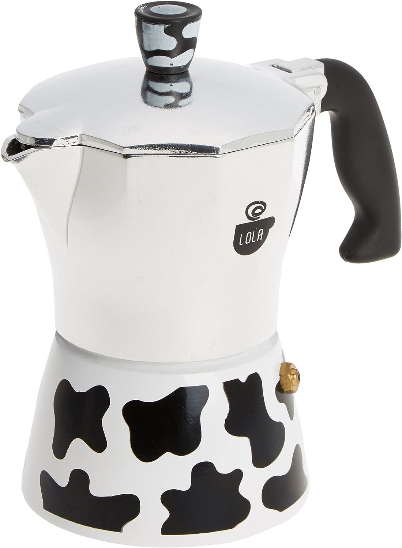 HOME Vaca Cafetera, Aluminio, Negro/Blanco, 3 Tazas: Amazon.es: Hogar