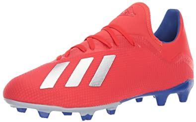9b91cdded4d adidas Men's X 18.3 Firm Ground, Active red/Silver Metallic/Bold Blue 6.5