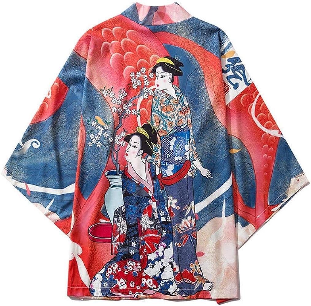 N/ A Japonés Del Ukiyo-e Onda De La Mujer Japonesa Bata De Impresión De Tatuajes CLKMRY (Color : Color, Size : L): Amazon.es: Ropa y accesorios