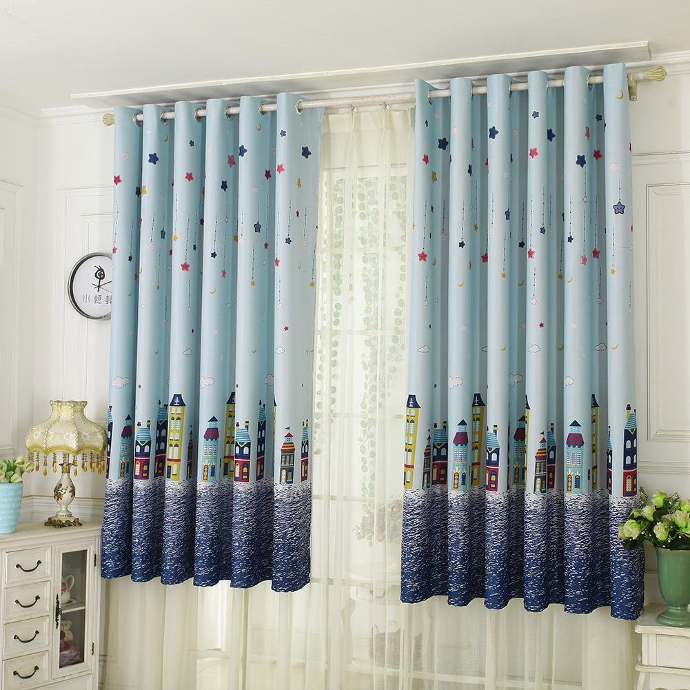Demiawaking Lavender Thermal Blackout Curtains Eyelet Fabric Blackout Curtain Panel for Kids Bedroom Living Room Home Decoration 39