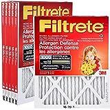 Filtrete 16x20x1 MPR 1000 6-Pack Furnace Filters - Micro Allergen Defense Pleated AC Furnace Air Filter