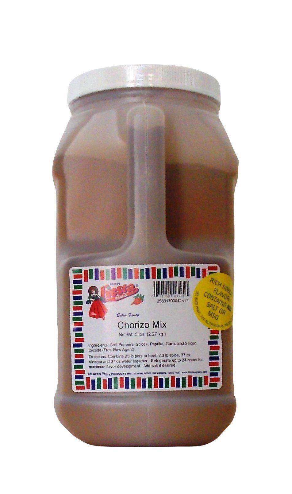 Bolner's Fiesta Extra Fancy Salt Free Chorizo Mix, 5 Lb.