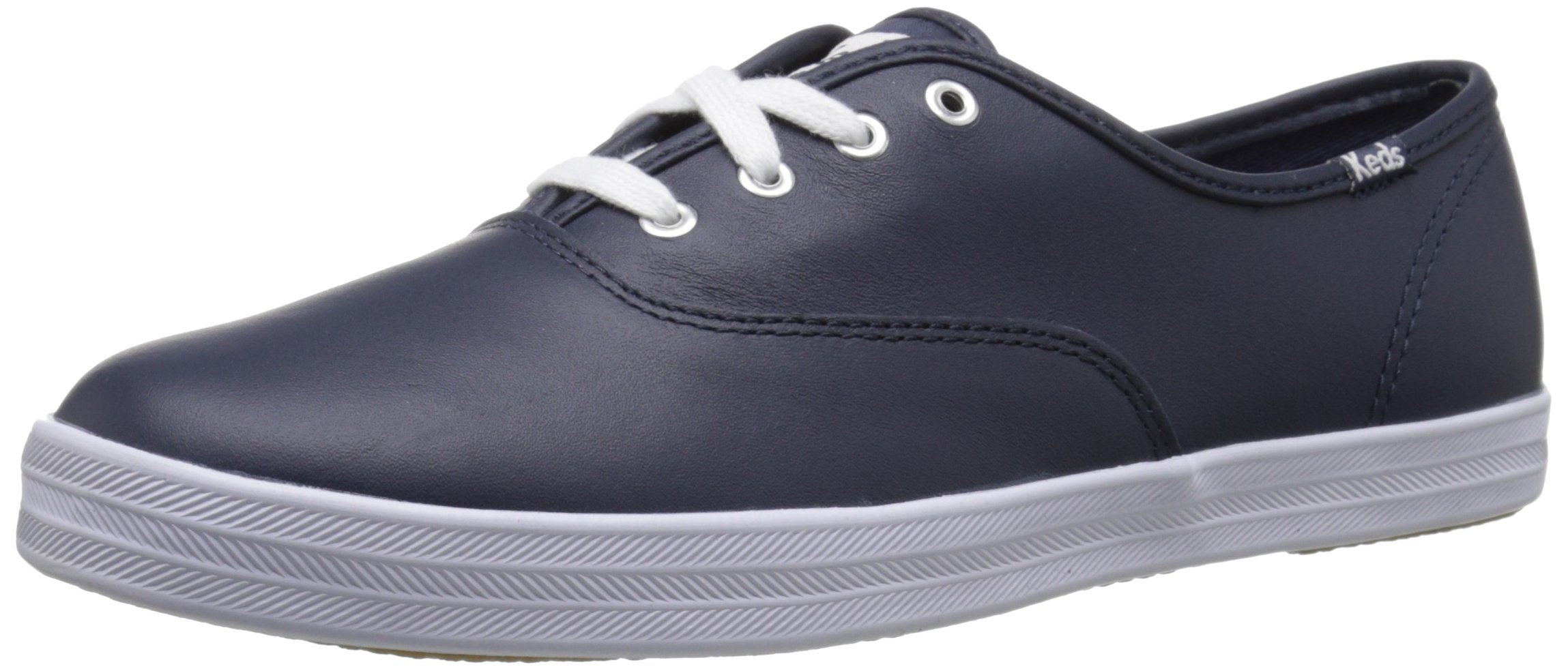 Keds Women's Champion Original Leather Sneaker,Navy Leather,8.5 M US