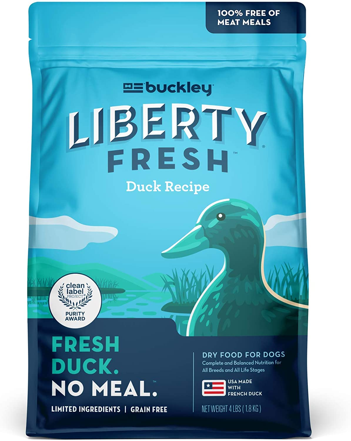 Buckley Liberty Fresh Dry Food for Dogs, Six Recipe Options, 4-24 Lbs