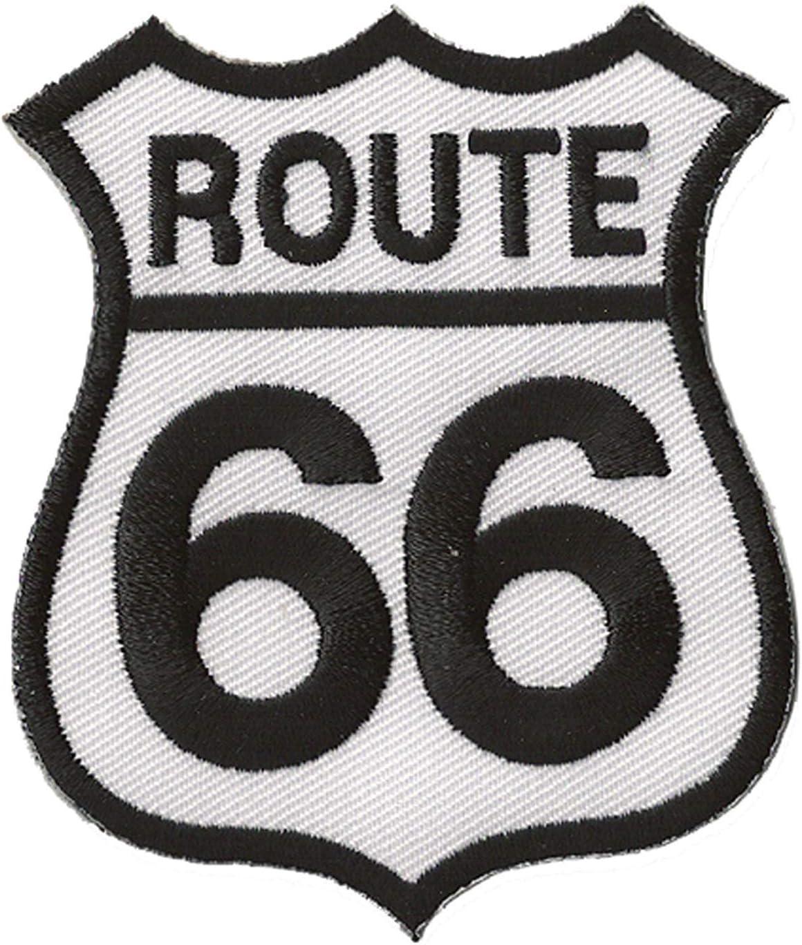 Toppa distintivo termoadesivo Route 66