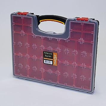 Caja organizadora de herramientas profesional con 20 compartimentos, ideal para clavos, tornillos y tuercas: Amazon.es: Bricolaje y herramientas