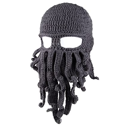 f5e707fc616 Tentacle Octopus Face Mask Winter Warm Knitted Squid Beanie Balaclavas