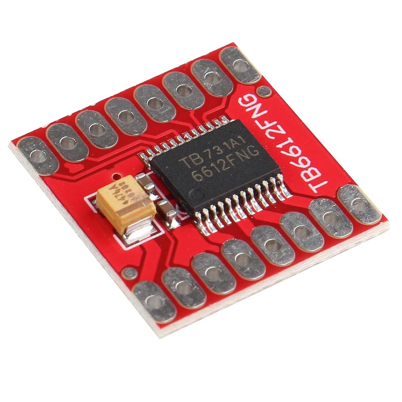 2 St/ück TB6612FNG Modul Dual Motor Driver Controller Board Stepper Motor Control with Pin Header for Arduino Microcontroller ersetzen L298N