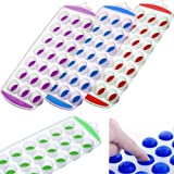 Ice Cube Tray Easy Pop Maker Ice Cube Plastic Silicone Top Mould 21 Ice Cubes Fusion (TM)