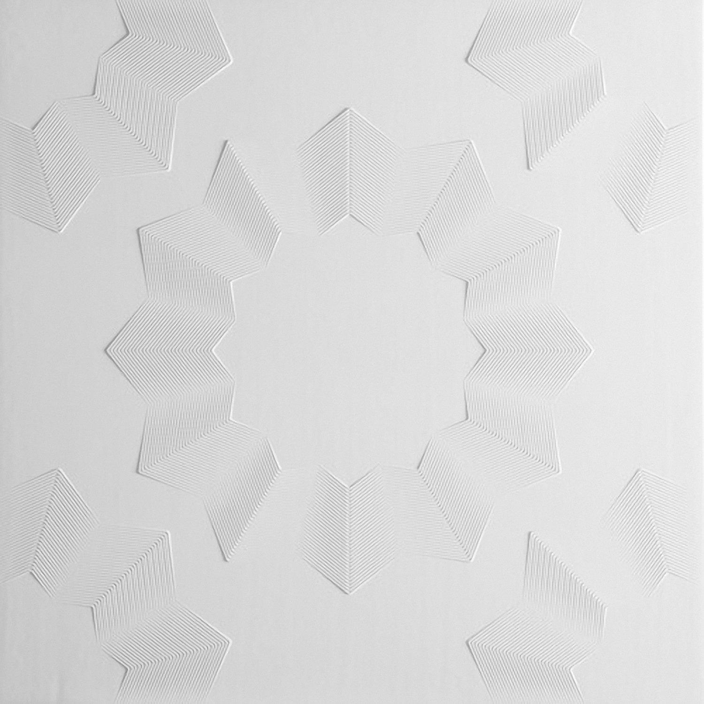 Azulejos de techo de poliestireno laminato Tosca ( paquete de 72 pc / 18 metros cuadrados ) Blanco Kaseton