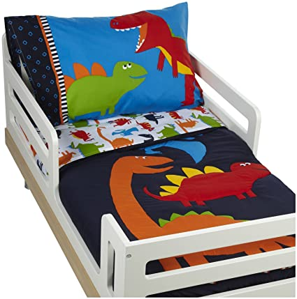 Carter's 4 Piece Toddler Bed Set, Prehistoric Pals