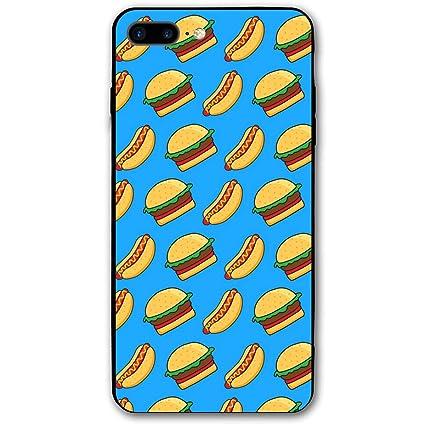 3c78ff2b7e MaoYTUI Burger and Hot Dog iPhone 7 Plus Case,iPhone 8 Plus Case,Apple