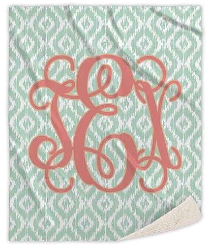 333d2d77f28b Amazon.com: RNK Shops Monogram Sherpa Throw Blanket - 50