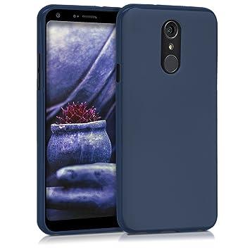 kwmobile Funda para LG Q7 / Q7+ / Q7a (Alpha) - Carcasa para móvil en TPU Silicona - Protector Trasero en Azul Oscuro Mate
