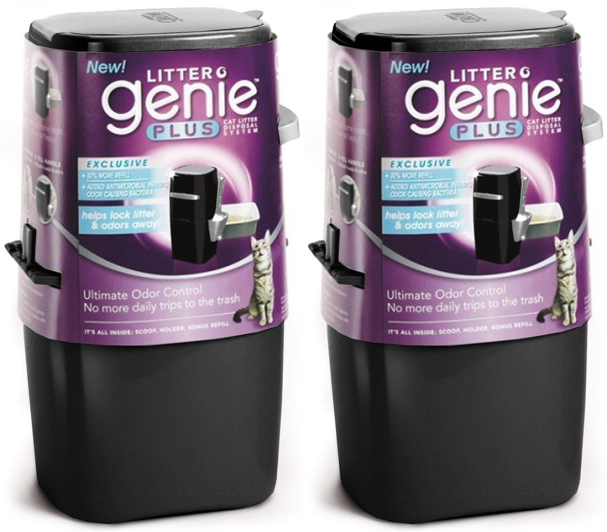 Litter Genie Plus Cat Litter Disposal System Black 2ct (2 x 1ct)