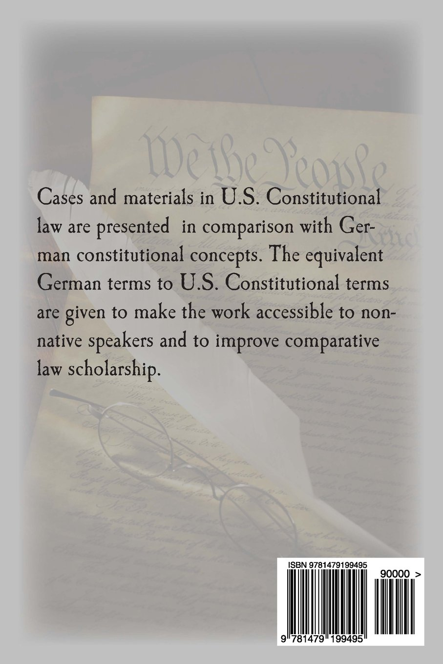U.S. Constitutional Law for German Speaking Jurists