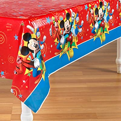 Mickey Mouse 'Fun and Friends' Plastic Table Cover (1ct): Kitchen & Dining
