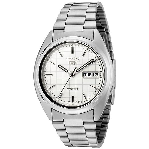 8a37ced23ef Seiko Men s SNXF05 Seiko 5 Automatic White Dial Stainless Steel Watch  Seiko   Amazon.co.uk  Watches