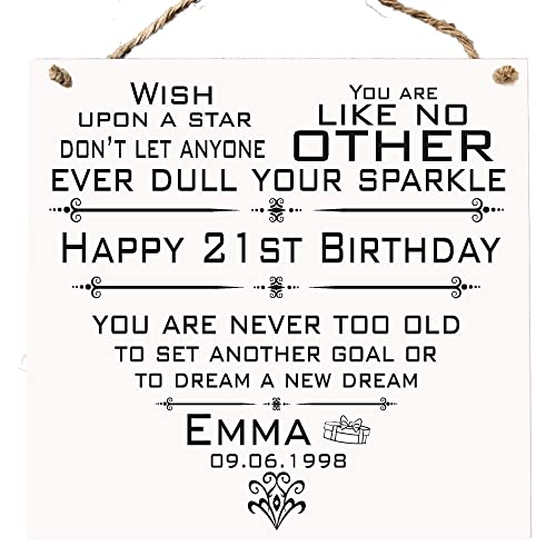 Birthday 16th 21st 30th 40th 50th Plaque Best Friend Personalised Gift Card Alternative W279 Amazoncouk Handmade