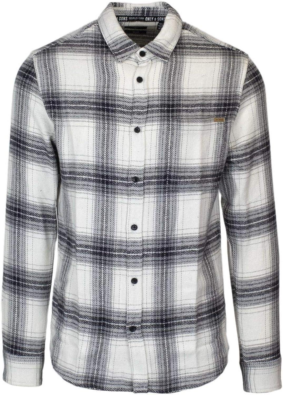 Only & Sons Luxury Fashion Hombre 22011195WHT Blanco Camisa | Temporada Permanente: Amazon.es: Ropa y accesorios