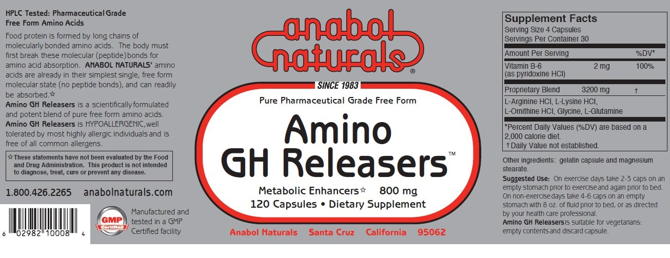Anabol Naturals Physique Stack: Amino Balance 480 caps and Amino GHReleasers 240 caps (2 month supply)