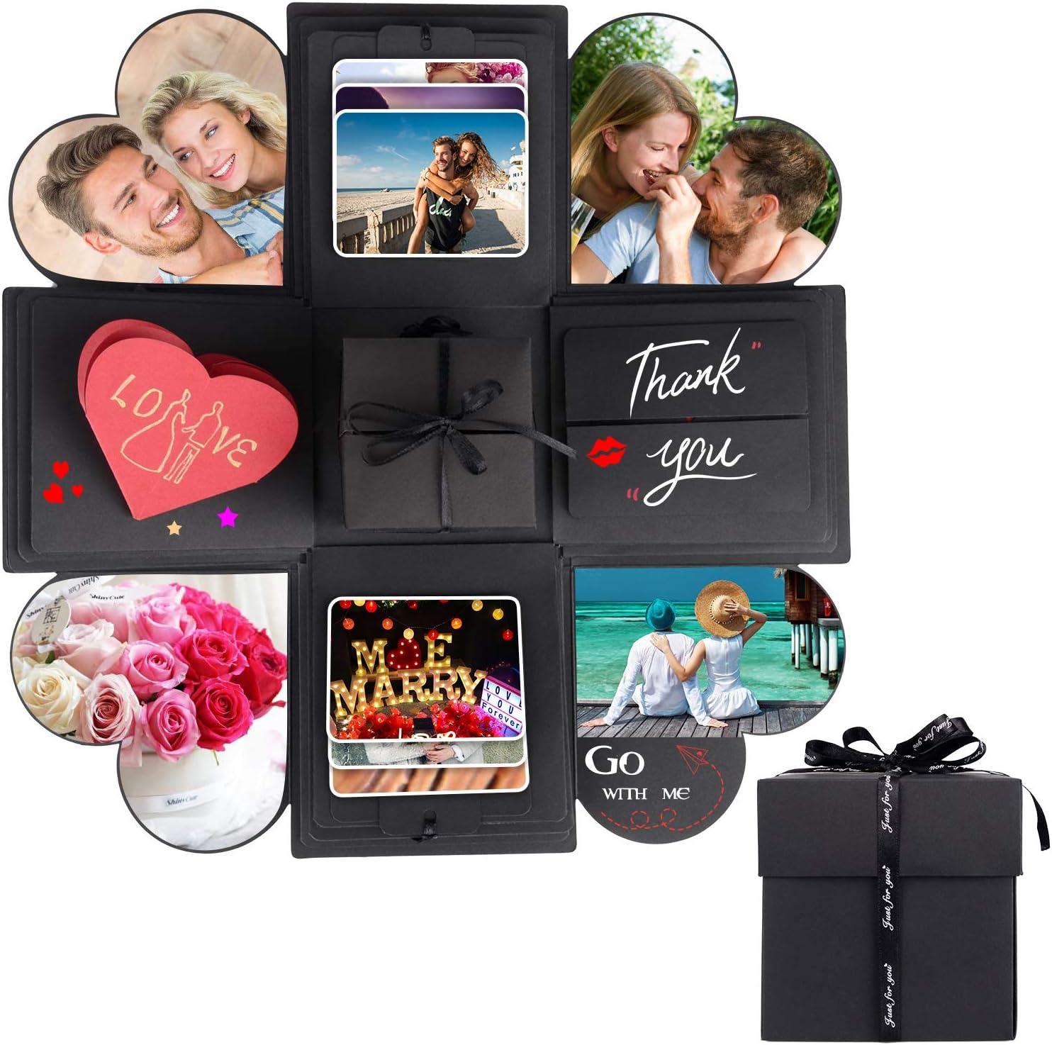 Abvenc Pop Up Explosion Box DIY Handmade Gift Box Photo Album Scrapbook Scrap Book Birthday Wedding Valentines Day Christmas Surprise Present Creative Birthday Gift