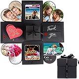 ESEOE Explosion Box, Surprise Box Scrapbooking DIY Handmade Photo Album As Birthday Gift/Anniversary Gift/Valentine Gift/Wedding Gift (Black)