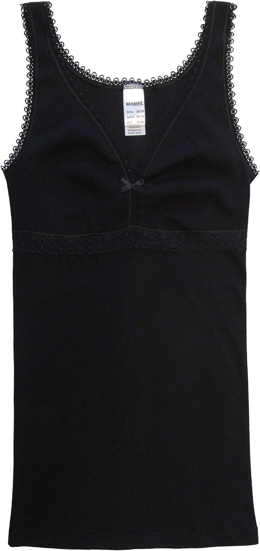 HERMKO 15804740 2er Pack Damen BH-Hemd aus 100/% Bio-Baumwolle