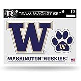 Purple Rico Industries NCAA Washington Huskies NCAA Team Magnet Sheet 11 x 8.5 x 25