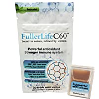 Carbon 60 Antioxidant Dissolvable Strips | Immunity Booster | Pure 99.99% C60 Solvent Free | Not C60 in Olive Oil…