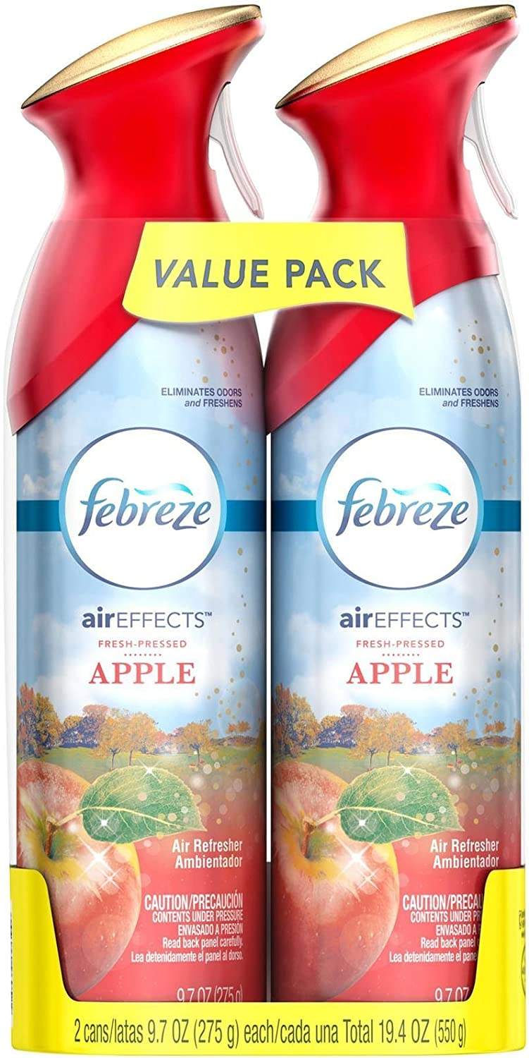 Febreze Air Effects Fresh Pressed Apple Air Freshener (2 Count, 19.4 Oz), 1.239 Pound
