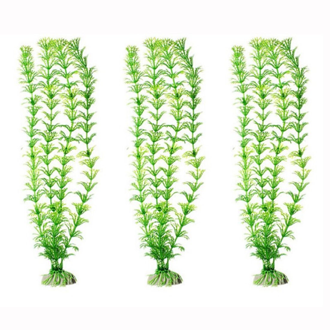 Rurah Ornament Artificial Green Plant Grass for Fish Tank Aquarium Decor Plastic Green Color