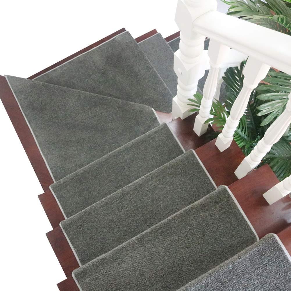 カーペット 長方形の階段カーペットワンピース自己接着洗える敷物階段踏面ドラゴン骨折側、室内滑り止め階段マット (色 : Set of 13, サイズ さいず : 100×24+3cm) 100×24+3cm Set of 13 B07P46TK8T