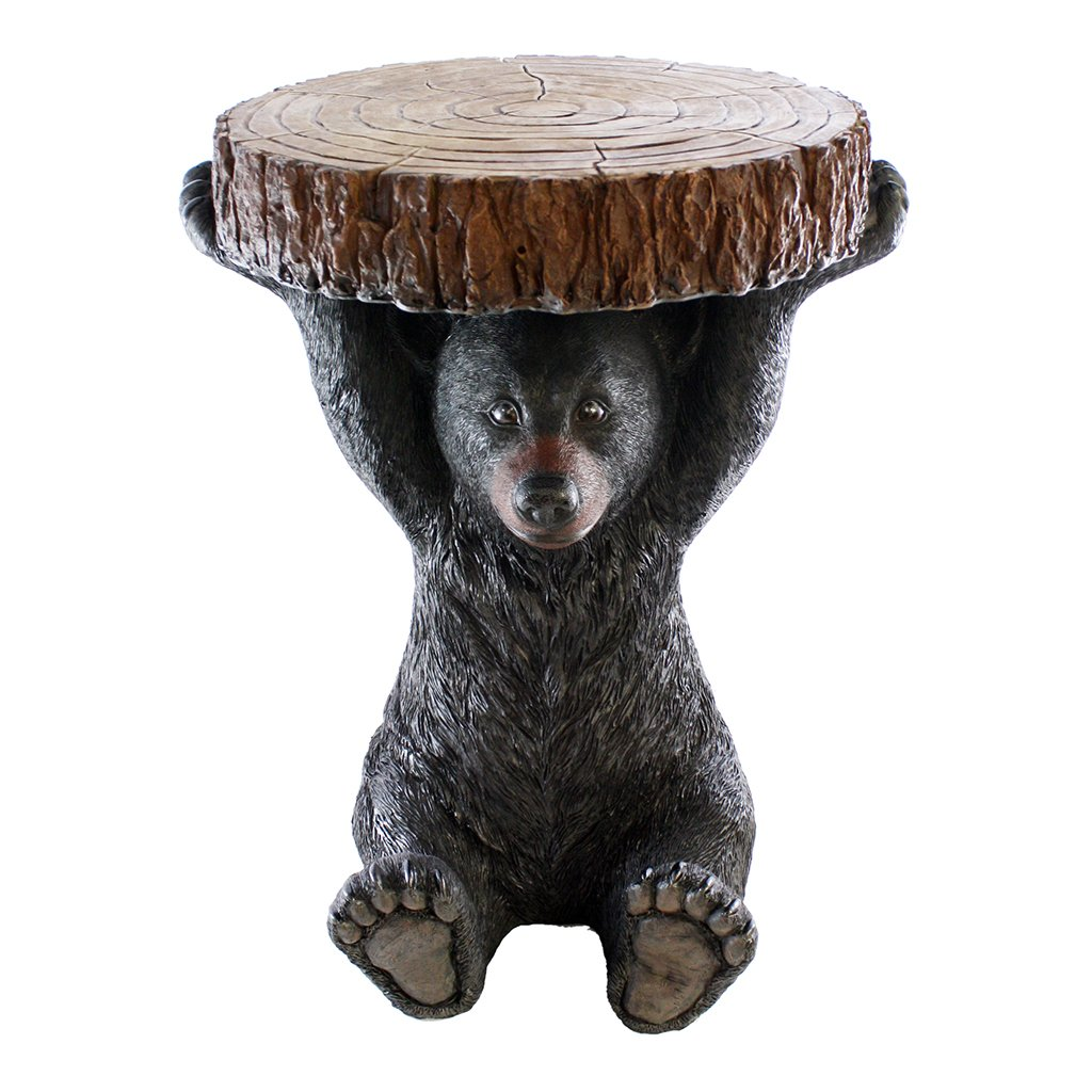 Pine Ridge Black Bear Table - 24'' Tall Beautifully Hand-Painted and Crafted Life-Like Intricate Bear Polyresin for Nature and Wildlife Lovers, Hunters and Outdoorsman - Great for Arts and Crafts by Pine Ridge