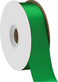 "product image for Berwick Offray 1.5"" Single Face Satin Ribbon, Emerald Green, 50 Yds"